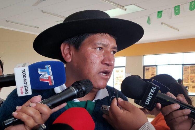 El ejecutivo de los campesinos de Tarija, Osvaldo Fernández