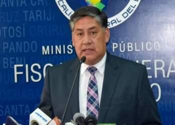 El Fiscal General del Estado, Juan Lanchipa,