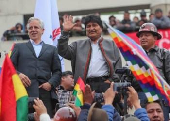 Álvaro García Linera y Evo Morales. Foto archivo