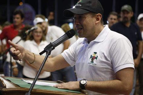 El exlíder cívico cruceño, Luis Fernando Camacho, en una concentración del 2019. Foto- Comité Cívico pro Santa Cruz