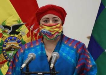 María Nela Prada, ministra de la Presidencia de Bolivia. Foto archivo.