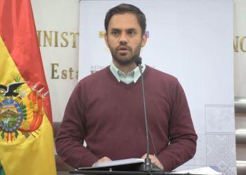 El Ministro de Gobierno, Eduardo del Castillo. Foto archivo.