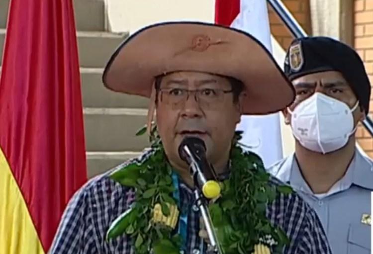 El presidente Luis Arce Catacora.