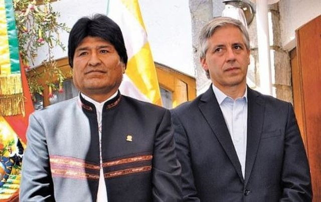 Evo Morales y Álvaro García Lineras