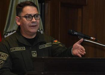 El comandante de la Policía Boliviana, Jhonny Aguilera