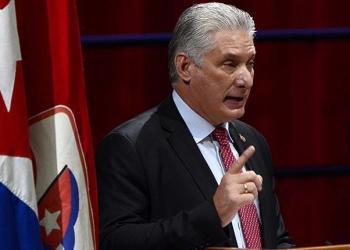 El presidente de Cuba, Miguel Díaz-Canel, pronuncia un discurso. | EFE. FOTO ARCHIVO
