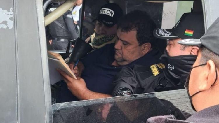 El narcotraficante Eynar Lima Lobo es extraditado. Foto: Ministerio de Gobierno