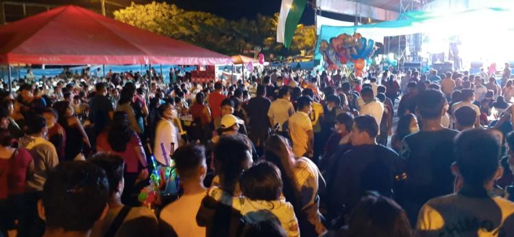 La fiesta del sindicato de transporte de Chimoré, en plena tercera ola de contagios. / Foto: Los Tiempos