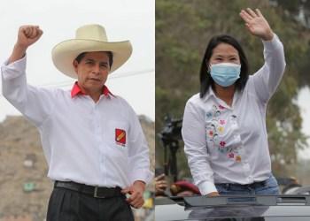 Pedro Castillo y Keiko Fujimori. Crédito: AFP