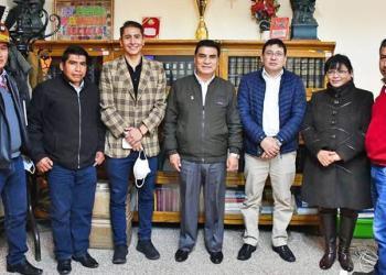 La reunión de autoridades en Oruro, ayer. | ABI