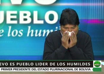 El expresidente Morales en entrevista con RKC, este domingo. / Foto: Captura de video.
