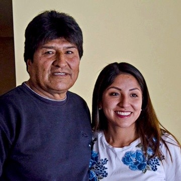 Evo Morales y su hija Evaliz.