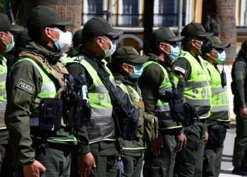 Efectivos de la policía de Cochabamba. | Carlos López