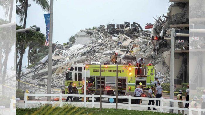 Derrumbe en un edificio de Florida, Miami