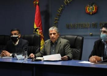 El ministro de Defensa, Edmundo Novillo, en conferencia de prensa. | Ministerio de Defensa