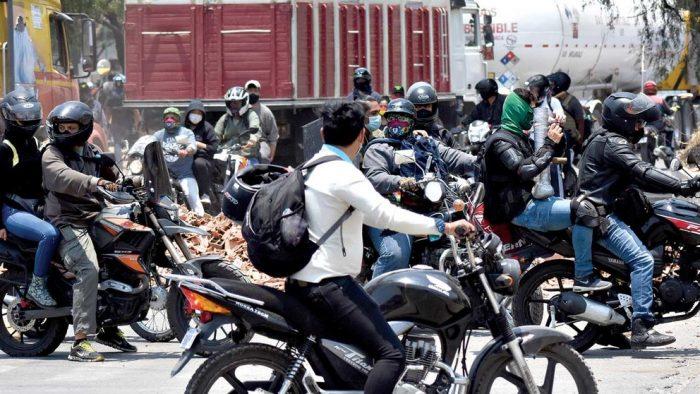 Foto referencial- Jóvenes de la RJC durante las movilizaciones.