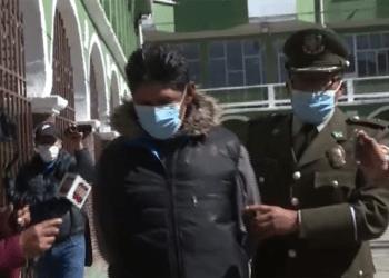 El sujeto fue llevado hasta depedencias de la FELCV de La Paz (UNITEL)