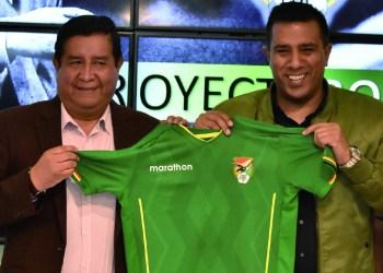 César Salinas (+) con Farías, en el inicio de la relación con Bolivia. Foto- Archivo Digital .