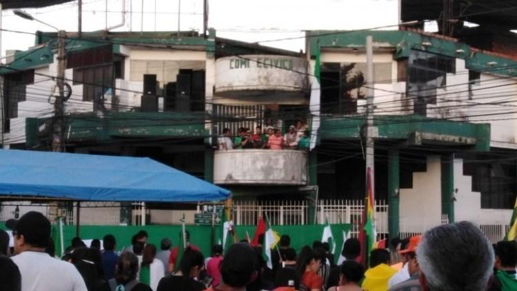 Foto archivo. Frontis del Comité Cívico de Yacuiba