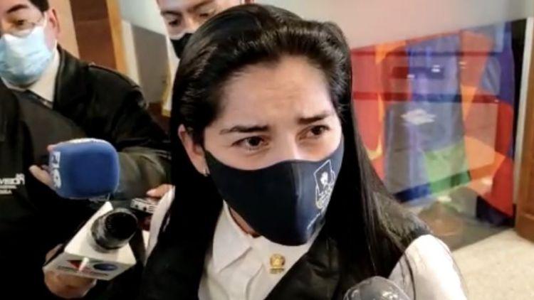 Senadora del MAS Roxana Nacif. / Foto: Captura pantalla.