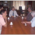 NECOCHEA: El Jefe de la Departamental Inspector Carlos Salerno fue recibido por el Intendente Molina. Declaraciones de Mario Diez