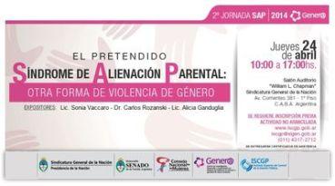 """SIGEN – ISCGP: Jornada sobre """"El pretendido Síndrome de Alienación Parental, otra forma de violencia de género"""""""