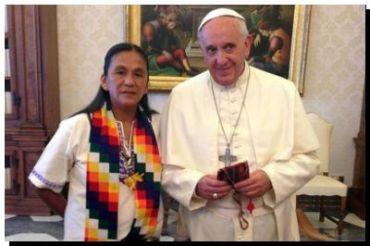 VATICANO: El Papa recibió a Milagro Sala y a referentes de los pueblos originarios