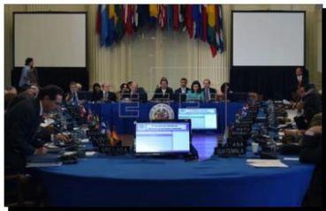 """WASHINGTON: La OEA aprobó la declaración en """"respaldo a la posición de Argentina"""" en el caso contra fondos buitre"""