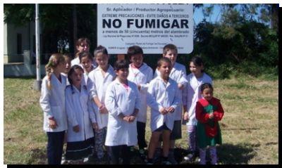 """SALUD: Detectan glifosato en el aire y exigen """"control"""" en las escuelas rurales de la Provincia"""