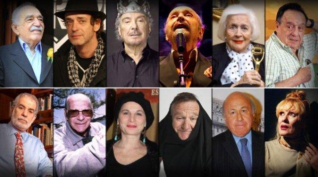 Los artistas que nos dejaron en 2014