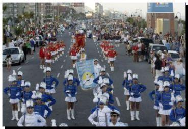 Espectacular desfile de Guardias de Honor en la costa marplatense. Necochea presente