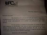 nota de la UPC