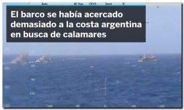EL MUNDO: Argentina ametralla y hunde un pesquero chino