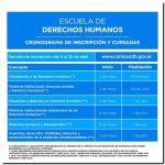 DERECHOS HUMANOS: Inscripción a los cursos virtuales
