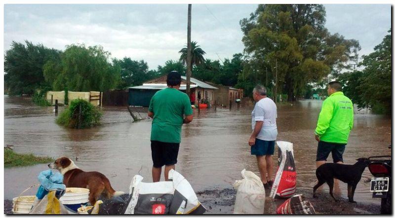 TEMPORAL: Doscientos evacuados y cortes de luz en Pergamino