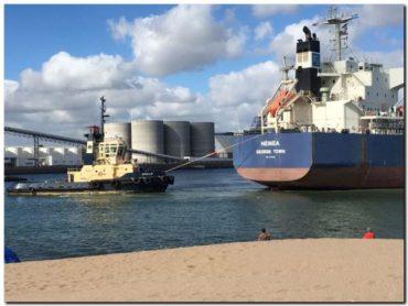PUERTO QUEQUÉN: En tres meses más de 3 millones de toneladas operadas