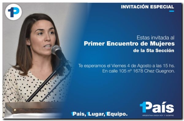 POLÍTICA: Conferencia de prensa Jimena López y Malena Galmarini en Necochea