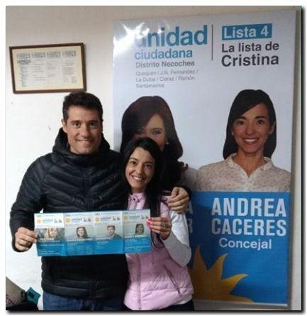 ELECCIONES 2017: Visita de diputado Rossi a Andrea Cáceres