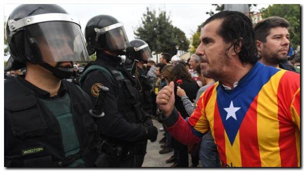 CATALUÑA: Tensión y enfrentamientos en la votación del referéndum