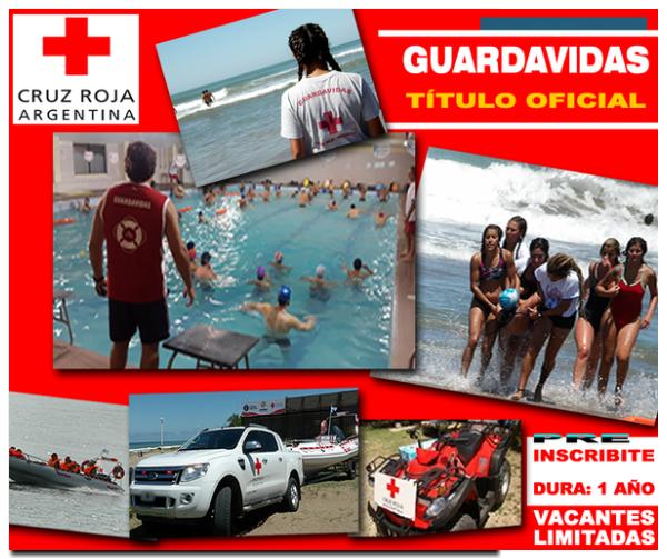 GUARDAVIDAS: Pre inscripción en la escuela de la Cruz Roja