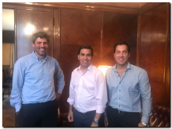 PUERTO QUEQUÉN: Rojas con Javier Tizado y Esteban Pintos