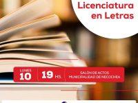 NECOCHEA: Charla sobre licenciatura en letras