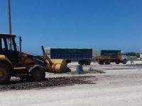 NECOCHEA: Efectuaron reparación de calles en la Playa de Camiones