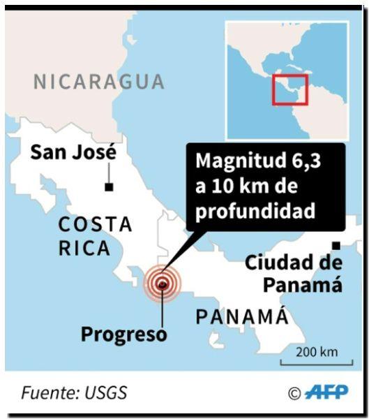 EL MUNDO: Un fuerte sismo estremece la frontera entre Costa Rica y Panamá