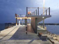 Por alerta meteorológico, Puerto Quequén suspende inauguración del Mirador Terraza Norte