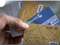 El Central fijó tope de 55% para las tasas de las tarjetas de crédito