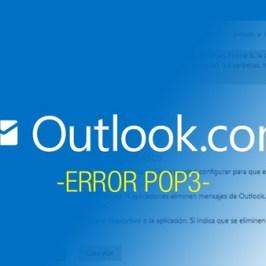 outlook error pop3