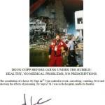 Douglas Coop, en la zona cero en WTC