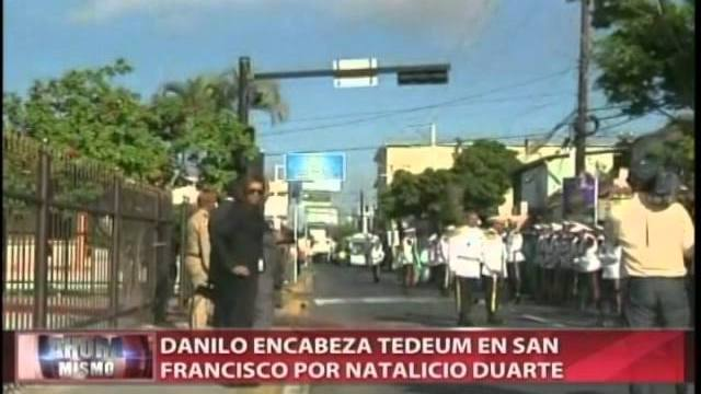 Danilo encabeza Tedeum por Duarte en SFM
