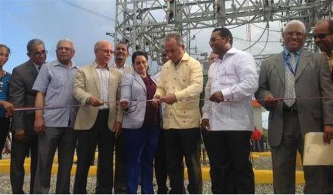 Inauguran subestación eléctrica  en Yaguate
